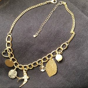 """Jewelry - Bird charm necklace in gold NEW 16"""" to 20"""""""